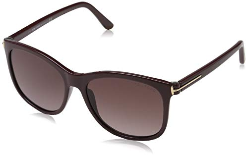 Tom Ford Damen FT0567 69T 56 Sonnenbrille, Burgunder,