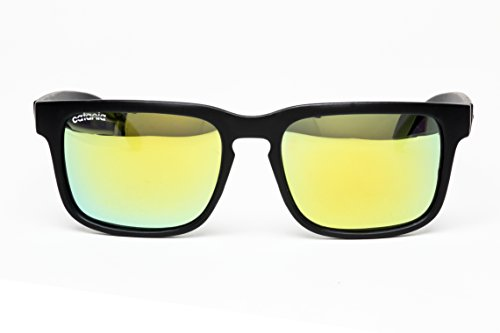 Catania Occhiali ® Polarised Sunglasses - New Season Collection 'Wayfarer Style' Sunglasses (Inc. Case) Polarized Lenses (Lightweight Design - Suitable for Sports)