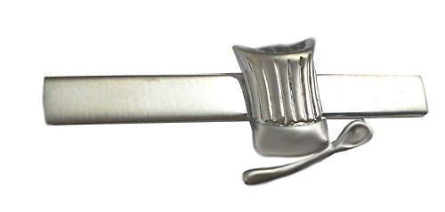 Koch Krawattennadel Krawattenklammer Kochmütze u. Kochlöffel + Geschenkbox (Backen Themen-schmuck)