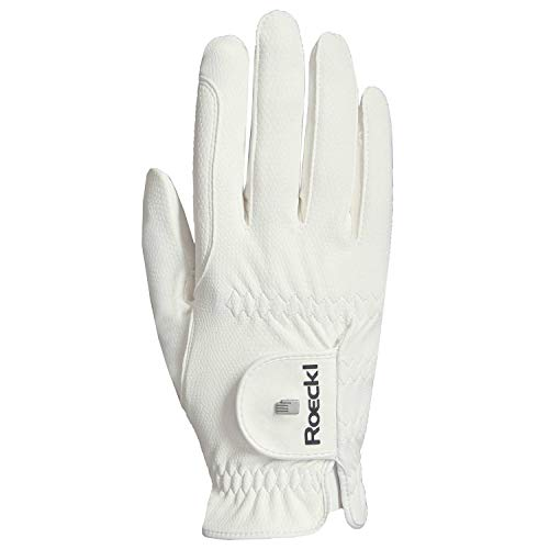 Roeckl Roeck Grip Pro Handschuh, Unisex, Reithandschuhe, Weiß, Größe 7,5