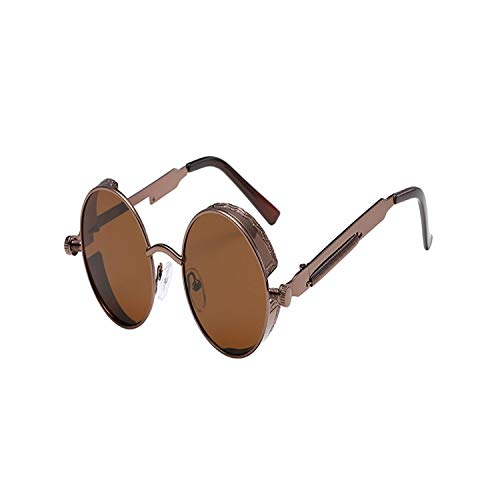 FGRYGF-eyewear2 Sport-Sonnenbrillen, Vintage Sonnenbrillen, Vintage Steampunk Sunglasses Men Brand Designer Gothic Round Sunglasses Women Male Retro Sun Glasses For Male UV400 C07