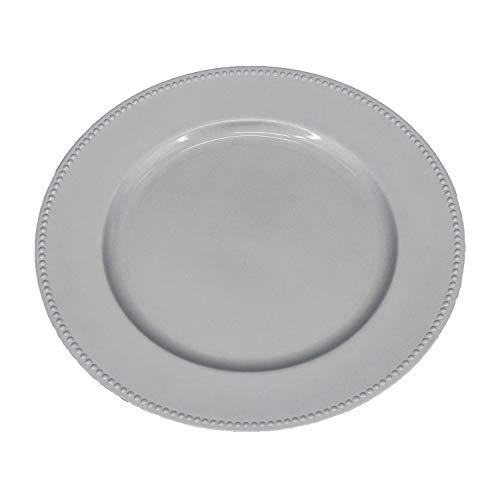 Kunststoff Ladegerät Teller für Hochzeit Party Bankett Dekoration 13