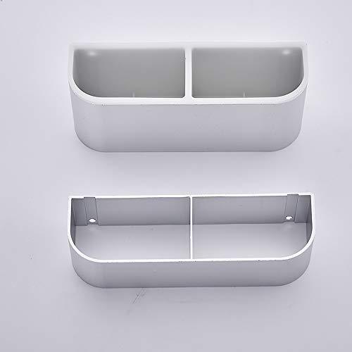Shve Mode Raum Aluminium Materialien Schirmständer, Kreative Einfache Doppelregal, Wandmontage Wasserdicht und Rostfrei Super Last tragende Regal (Capacity : Double layer, Color : Silver)