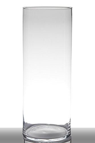INNA Glas Bodenvase Glas Sansa, Zylinder/rund, klar, 50cm, Ø19cm - Hohe Vase/Glasvase