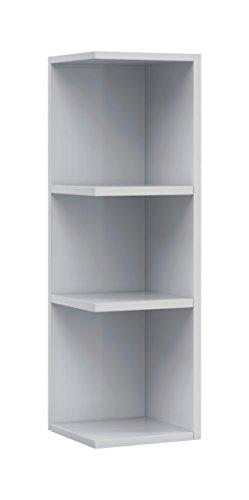 13casa - bahamas a5 - pensile bagno angolare. dim: 20x21x65 h cm. col: bianco. mat: melamina.