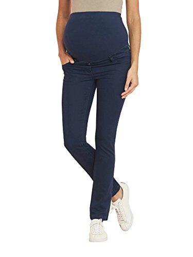 Schrittlänge Jeans (Vertbaudet Umstands-Jeans, Slim-Fit, Schrittlänge 78 cm Marine 44)