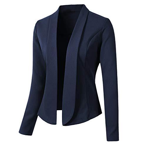 Damen Anzugjacke Blazer,Frauen Blazer Tops Langarm Jacke Büro Tragen Strickjacke Mantel Elegantes Cardigan Smoking Slim Fit Anzug Sakko Jacke Bluse -