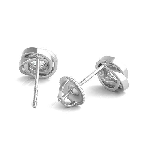 Diamond Studs Forever - Solitaire-Ohrstecker - 0,5 ct. Diamanten GH/I1 - Weißgold 14 K - 3