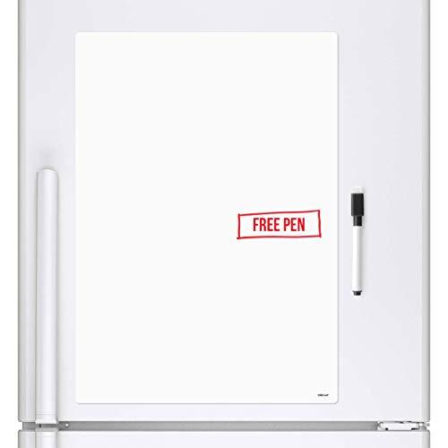 CKB Ltd® A4, blanko, trocken abwischbare Whiteboard Kühlschrank Magnettafel Magnet Signage Tabelle mit Marker weiß Board & Stift-trocken abwischbare Küche Memo Pinnwand groß Notitzbuch 29x 21cm