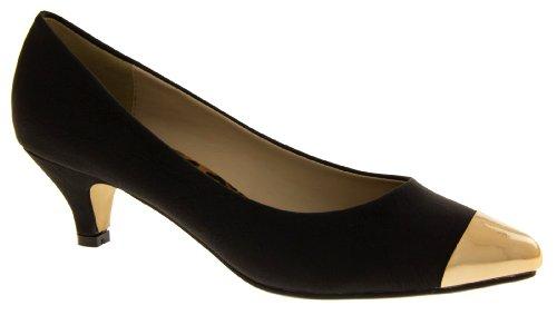 Sabatine 31526 Faux Cuir Talon Bas Chaussures Formelles Femmes Noir