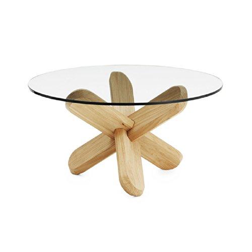 Normann Copenhagen - Table Basse Ding Verre Transparentchêne Clair - Chêne Clair