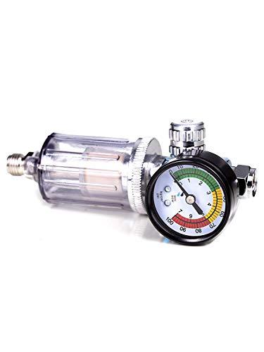Confezione: regolatore di pressione del manometro per pistole per verniciare + olio–filtro acqua benbow (benbow-602)
