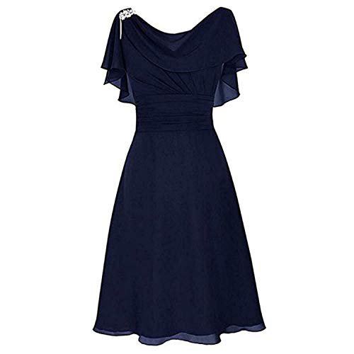 DQANIU- Partykleid, Kleidung Schuhe & Accessoires - Kleid Damen Plus Size Elegante Formelle Hochzeit Brautjungfer High-Taille Party Ball Abendkleid Cocktailkleid Dinner/Dating Kleider, S-XXXXL