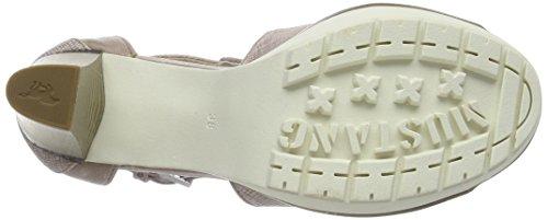 Mustang 1213-802, Sandales ouvertes femme Beige (555 rose)