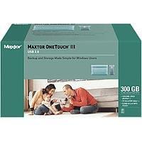 Maxtor Festplatte extern ONETOUCH III 300 GB USB 2.0