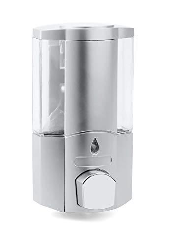 Dispenser A Muro Per Sapone Liquido 400Ml, Erogatore Sapone Manuale, Contenitore Elegante Per Docciaschiuma Shampoo, grigio