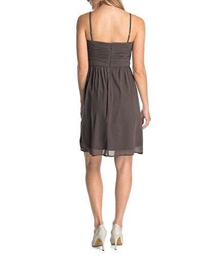 ESPRIT Collection Damen Bustier Kleid, Knielang, Einfarbig Braun (DARK NOUGAT 191)