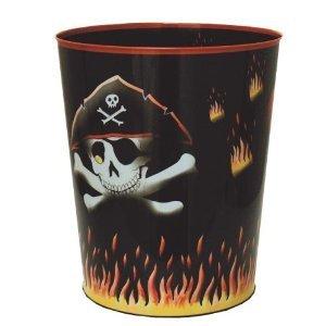 Piratenpapierkorb Papierkorb Pirat / Mülleimer für Kinder aus Metall Piratenmülleimer Verlag Jürgen Döll Kinderzimmer für Jungs / Seeräuber