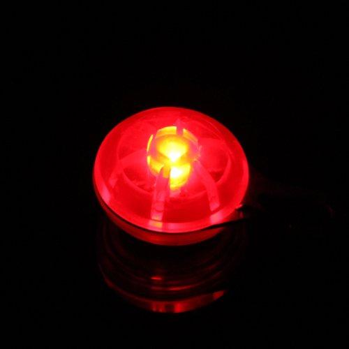 Haustier Hund Sicherheit LED Nachtlicht Clip on Rund Anhänger Rot - 6