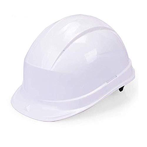 WYNZYSLBD Schutzhelme Bauarbeiterhelm Belüftungshelm, Ratsche Und Schweiß Bauarbeiterhelm Mit (Color : White)