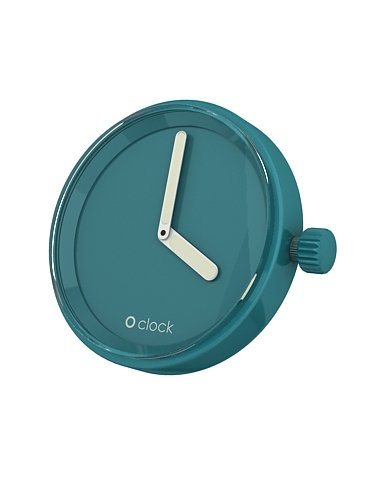 fullspot o clock cassa blu acqua  mec.ba - orologio da polso unisex