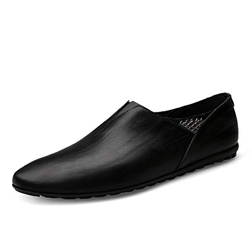 GPF-fei Men es Casual Shoes Spring/Fall Stylish Peas Schuhe Persönlichkeit Bestickt Tide Schuhe Loafers & Slip-Ons Lazy Schuhe,Black,45 Moc Slip
