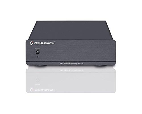 Oehlbach XXL Phono PreAmp Ultra | Hochwertiger Phono-Vorverstärker für Plattenspieler | MM- und MC-Tonabnehmer - schwarz