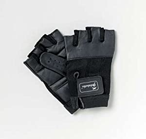 Patterson Medical Large Pair Black Leather Wheelchair Gloves - Size 1 (Eligible for VAT relief in the UK)