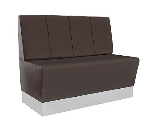 GGM Möbel (Chicago) Gastro Sitzbank 120x95cm | Dunkelbraun | Gestreift | Gastrobank Dinerbank Polsterbank Bistro Lounge Bank Dinermöbel Loungemöbel