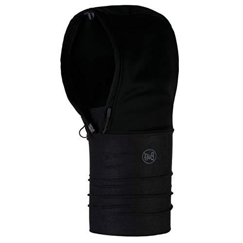 Windproof Hoodie Solid Black Schwarz -
