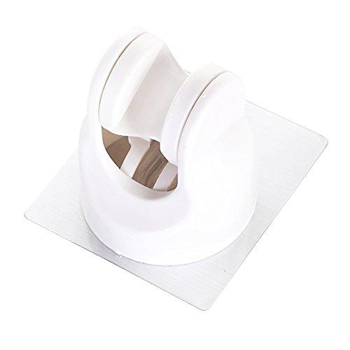 Rocita Dusche Halterung verstellbar Handbrause, Halterung Kunststoff Badezimmer 3M Selbstklebend Duschkopf Adapter Wasserdicht Wand montiert Universal Duschen Komponenten weiß 1Stück