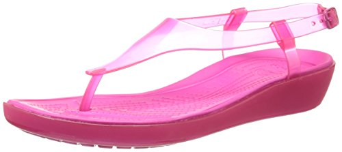 Crocs Women's Really Sexi T-strap Candy Pink Fashion Sandals -W4  available at amazon for Rs.1598