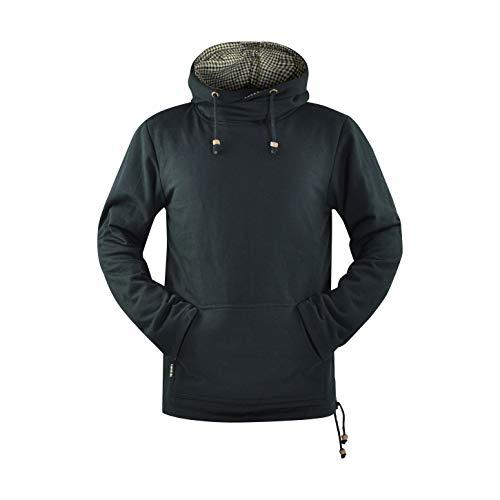 virblatt Warmer und gemütlicher Kapuzenpullover mit großer Kapuze Baja Hoodie als Ethno Kleidung und GOA Pullover - Seelenfrieden bkM