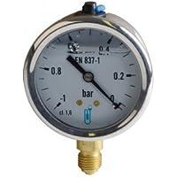Vacuometro rotondo - Da -1 a 0 bars diametro 63mm M1/4