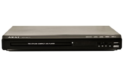 Akai ADV-6017- All Region Codefree Multi-System DVD Player 110 220V Worldwide Use. Plays DVD SVCD VCD MP3 JPEG on Any TV - Remote