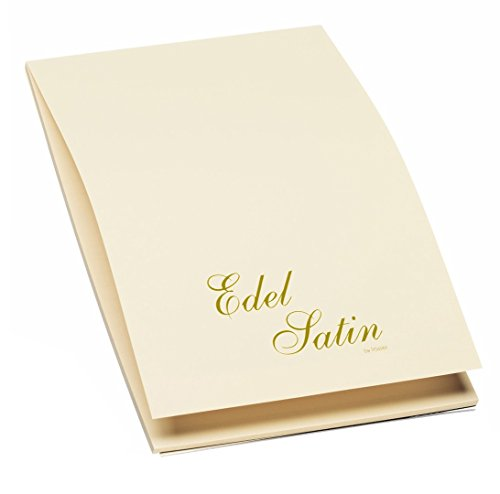 Rössler 2003838004 - Edel Satin - Briefblock A4, 40 Blatt, ivory