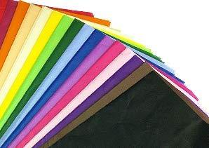 100 x Seidenpapier / Geschenkverpackung / Geschenkpapier Blätter 50cm x 76cm - Gemischte Farben
