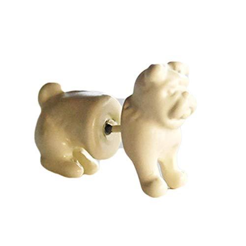 Push-button-backup (Huixing Hot Sale Ohrstecker für Damen und Mädchen, Punk, Gothic, Rocks, stereoskopisch, Hund, modisch, kein Schmuckstück, 1 Stück)