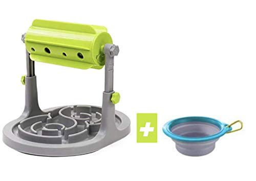 DOG DAY Interaktives Spielzeug für Hunde und Katzen. Intelligenzspielzeug und Beschäftigung für Ihren Vierbeiner. inkl. antischlingnapf Funktion