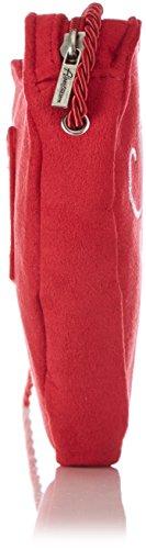 Alpenflüstern - Herztasche Spatzl-Stick, Borsa a tracolla Donna Rosso (Rot (rot 22))
