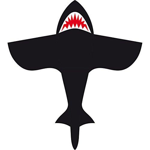 HQ 106534 - Shark Kite 4\' Kinderdrachen Einleiner, ab 5 Jahren, 120x108cm, inkl. 15kp Polyesterschnur 60m auf Spule, 3-5 Beaufort