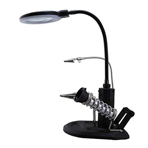 Lupenleuchte Desktop-Vergrößerungslampe 2.5X 4X-Verstärkung Mit Hilfsrahmenschweißen Wartungslupe Workbench