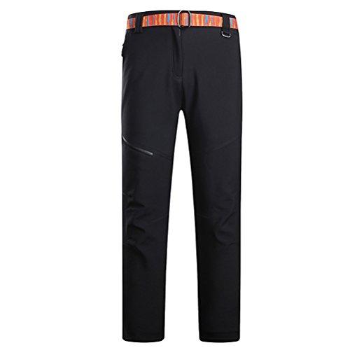 Zhhlinyuan Black Womens Windproof Waterproof Softshell Casual Trousers De plein air Climbing Camping Hiking Sport Pants Black