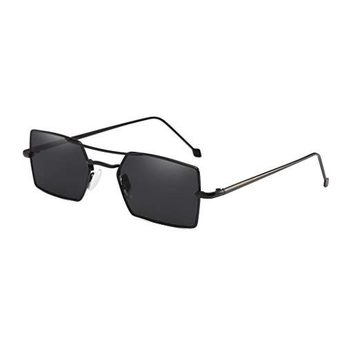 Lcxligang Heiße Mode Vier quadratischen Metallrahmen polarisierte Sonnenbrille - bietet vollen UV400-Schutz (Color : B)