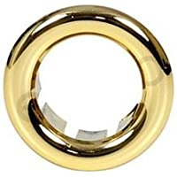 Pequeño rosetón dorado con cuello rosa para el desbordamiento del lavabo del lavabo 21 mm de diámetro