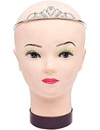 Party Butiko Silver Plated Crystal Crown Princess Tiara Hairband
