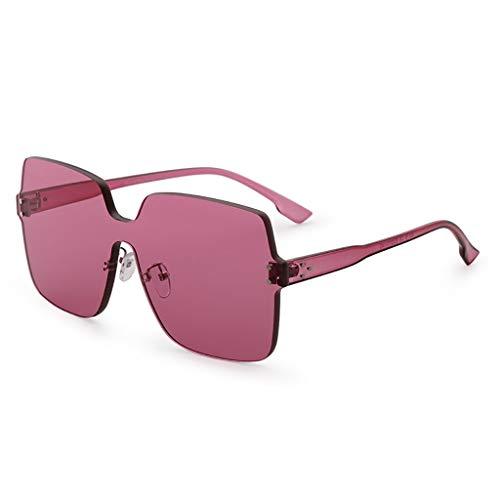 LDY 2019 Neue Sonnenbrille, Retro-Sonnenbrille Big Box Square, Anti-UV-Brille, rot
