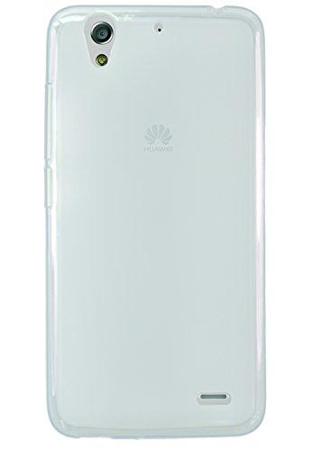 Phonix Gel Protection Plus Hülle mit Displayschutzfolie für Huawei Ascend G630 transparent/weiß