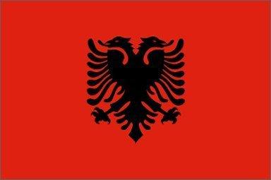 flagsimp Albanien Flagge, 3x Geschenkpapierrolle 150cm - Heavy-duty-outdoor-banner