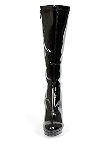 Ellie Shoes 4 Inch Knee High Boots With Zipper, Size: 9 UK,Color: Black